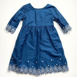 Old Navy Embroidered Chambray Dress Size 5T